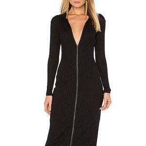 Capulet Gloss midi dress in black